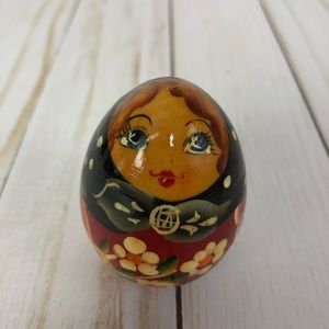VTG Matryoshka Nesting Doll Egg Hand Painted New